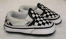 Vans Infant Checker Slip on Crib Shoes Size 1