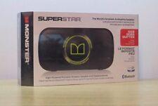 Monster Superstar Bluetooth Speaker in Black/Neon Green. Brand new in sealed box