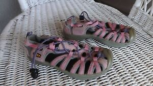KEEN, Youth Girl's Pink Sport Sandal, size 13