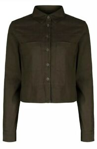 Ex-TopShop Green Khaki Top/Blouse. Sizes 6-16. BNWOT