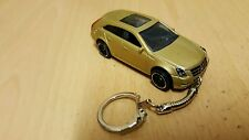 Diecast Cadillac CTS Estate Station Wagon Gold Toy Car Keyring Keychain