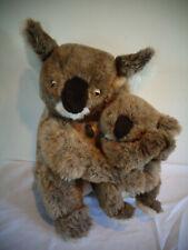 "Vintage 1981 Dakin Pillow Pets 16"" Mommy 10"" Baby Koala Bear Plush Stuffed Toys"