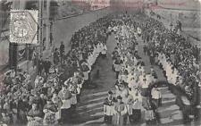 CPA 54 NANCY FUNERAILLES DU CARDINAL MATHIEU 1908 VUE D'ENSEMBLE RUE DES QUATRE