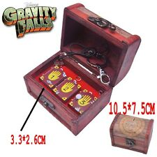 Gravity Falls Bill Journal Number 1 2 3 Necklace Pendant Keychain With Wood Box