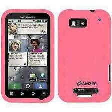 AMZER Silicone Skin Jelly Case for Motorola DEFY MB525 - Baby Pink