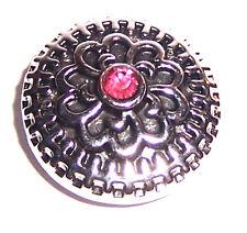 + bottone a pressione FLORAL Strass, click click button/Snap Bead, compatibile Bracciale ecc.