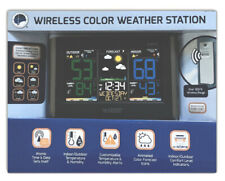 La Crosse Technology C85845 Color Wireless Forecast Station Black With REMOTE