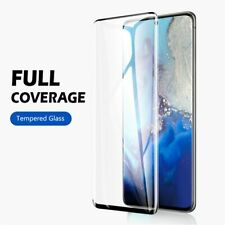 For Samsung Galaxy S10 S20 S9 S8 Plus Tempered Glass Screen Protector Film Black