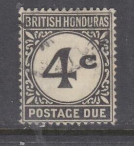 BRITISH HONDURAS, POSTAGE DUE, 1923 ordinary paper, 4c. Black, used.