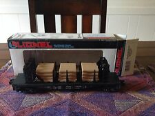 lionel 6-16347 ontario northland flat car with wood load