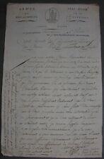 Défense du Fort Huningue. Suite Blessures demande emploi intérieur. Agut. 1796