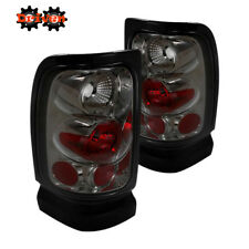 Rear Tail Light Smoked Lens Chrome Housing 94-01 Dodge Ram 1500/2500/3500
