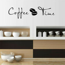 Coffee Time Quote Wall Art Sticker for Kitchen Cafe Shop Office Decoration Decal