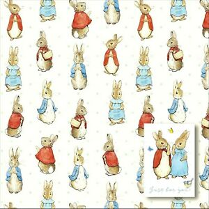 Traditional PETER RABBIT Gift Wrap Wrapping Paper 1 Sheets 1 Tags Beatrix Potter