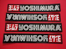 "Four - 7"" Yoshimura sticker decals. Genuine & new."