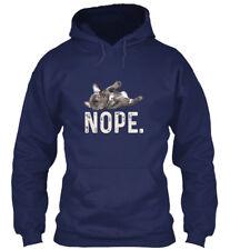 French Bulldog Nope T Gildan Hoodie Sweatshirt