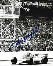 JOHNNY RUTHERFORD SIGNED 8X10 PHOTO INDY 500 INDIANAPOLIS 3 TIME WINNER 2018 A