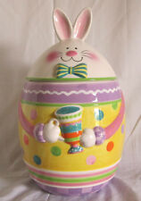 Fitz & and Floyd Easter Hoppy Days Cookie Jar Item# 653-106 NEW in BOX