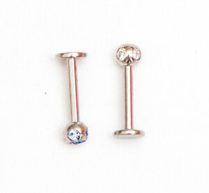 Labret monroe 8mm with 5 gems, choice of colour