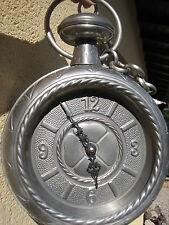 ANCIENNE HORLOGE MURALE-GOUSSET-MONTRE-ETAIN-1967-ALLEMAGNE-24x31cm-EXCEL. ETAT