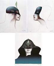 "PAUL WUNDERLICH - Original Lithographienset ""TÊTE DE FEMME"" (3 Grafiken)"