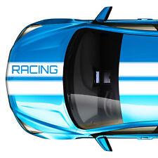 Autoaufkleber Viperstreifen mit Racing Schriftzug   Rennstreifen Rallye Streifen
