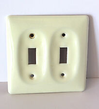 Ivory Ceramic 2 Toggle Switch Plate Cover