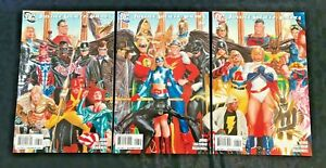 2009 DC Justice Society America Comic Book 26 Alex Ross 3 Connecting Cover Set
