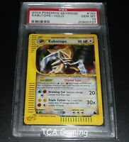 PSA 10 GEM MINT Kabutops 150/144 Skyridge Set CRYSTAL HOLO RARE Pokemon Card