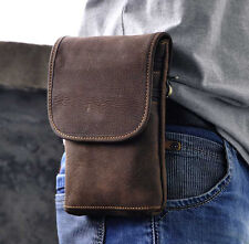 Men's Genuine Leather Hook Shoulder Messenger Belt Hip Bum Fanny Pack Waist Bag