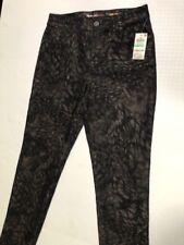 Women's NWT Style & Co. Petite Gold Foil Animal Print Slim Leg Pants Size 8P