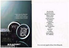 PUBLICITE ADVERTISING 095  1980  BLAUPUNKT chaine auto-radio cassette  LINZ (2p