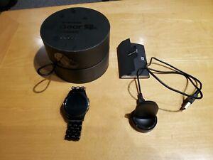 Samsung Galaxy Gear S2 40mm Stainless Steel Case Black and Black Steel Bracelet