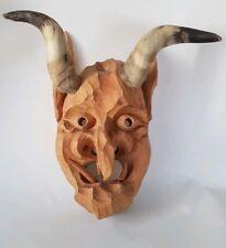 Perchtenmaske Holzlarve Holzmaske Krampus Maske handgeschnitzt