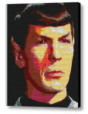 Star Trek Spock OS Lego Brick Framed Mosaic Limited Edition Numbered Art Print