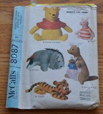 McCall's 8087 Winnie the Pooh Eeyore Piglet Tigger Kanga Roo Sewing Pattern VTG