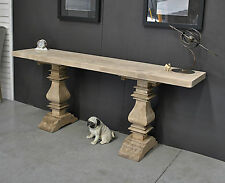 French Style Rustic /Industrial Recycled Timber Hall Console Display Side Table