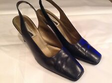 2975a66aabe CARESSA SHOES. CROSSTOWN. ULTIMA SERIES . Navy Leather Sling Backs Sz 10 M