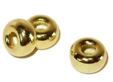 925er Silber. Vergoldet - Perlen. Ringe. Zwischenstücke. 5x3mm. 8 Stück