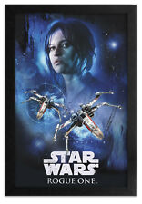 STAR WARS ROGUE ONE JYN SPACE 13x19 FRAMED GELCOAT POSTER FORCE DARTH VADER NEW!