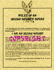 Rules In An Ibizan Hound's House