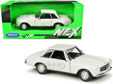 1963 MERCEDES BENZ 230SL COUPE CREAM 1/24 DIECAST MODEL CAR BY WELLY 24093