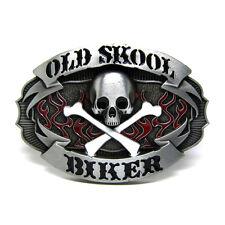 Vintage Gothic Punk Old Skull Skeleton Belt Buckle Mens Cowboy Biker Motorcycle