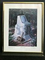 Lithograph Byte Mag. Cover #7 COMPUTER HARDWARE Robert Tinney Signed #41/100 COA