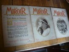 LOT 3 VIEUX JOURNAUX.LE MIROIR.LE PLUS BEL ILLUSTRE FRANCAIS.1914.