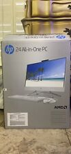 "NEW HP All-in-One Desktop 23.8"" FHD AMD Ryzen 3 8GB RAM 1TB HDD DVD Win 10"