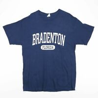 BRADENTON FLORIDA Big Logo Blue USA T-Shirt Size Men's Large