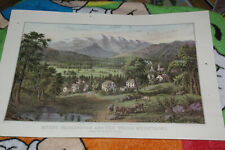 Currier & Ives Print Mount Washington And The White Mountains Calendar May 1963