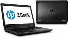 HP ZBook 15 G1 Intel Core i7 2.70GHz QUAD CORE 12GB Ram Laptop {NVIDIA Graphics}