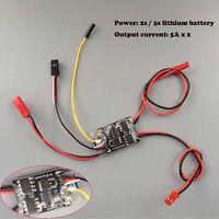 DasMikro 2S6A Micro Dual Bi-Directional Speed Controller for Tank Crawler and Bo
